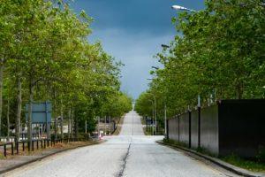 image of a road in Milton Keynes