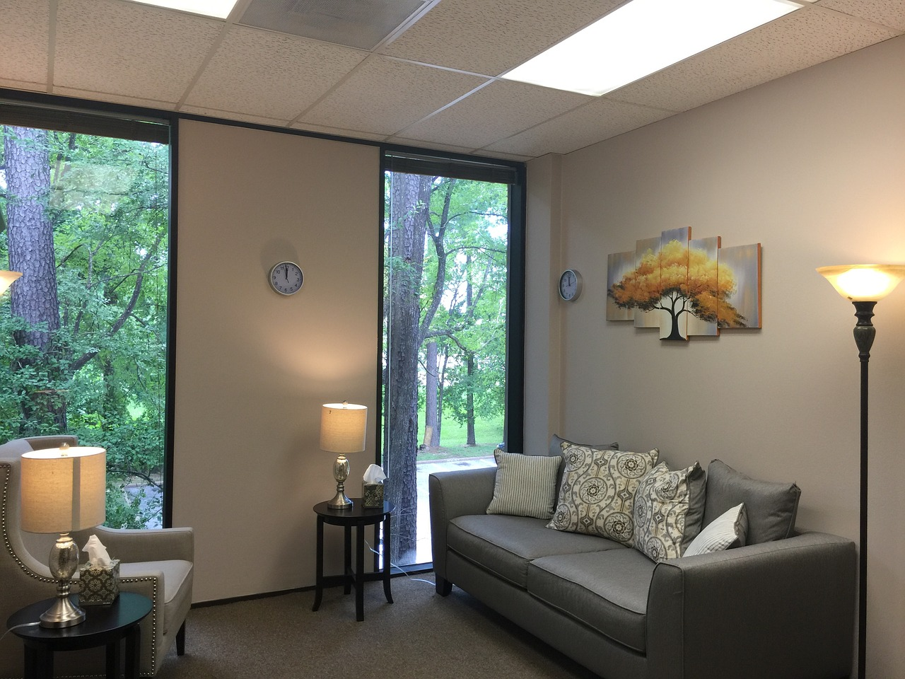 image of a therapy room